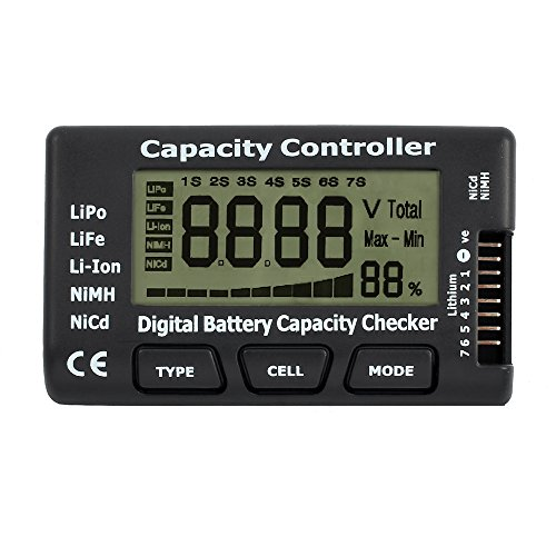 Digital testeur de capacité de la batterie Indicateur LCD testeur de capacité de la batterie contrôleur de tension Checker pour LiPo Life Li-Ion NiMH