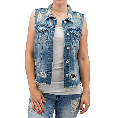 Only Donna Giacche / Gilet onlRia Cropped Denim