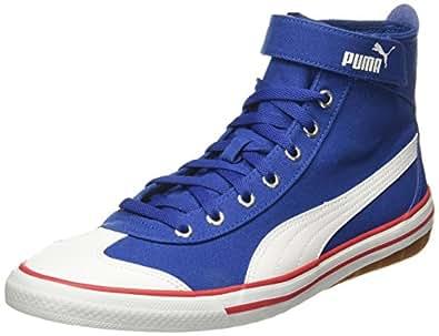 Puma Unisex 917 Fun Mid Idp True Blue, Barbados Cherry and White Sneakers - 3 UK/India (35.5 EU)(36334607)