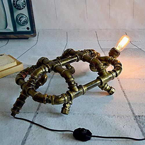 Steampunk Vintage Tischlampe Retro Rost Eisen Wasserpfeife rustikal Home Deco Industrie Loft Interieur viktorianischen Edison Eisen Land Beleuchtung Lampen LCNINGTD - Lampe Viktorianische Tisch Lampe