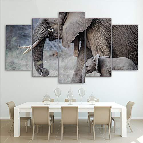 hhlwl Arte de la pared decoración del hogar fotos lienzo cartel 5...