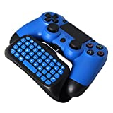 KOBWA PS4 Tastatur, Digital Mini Kabellose Tastatur mit Eingebautem Lautsprecher 2.4G Empfänger Chatpad Botschaft Spieltastatur für Sony PlayStation PS4 / PS4 Slim / PS4 Pro Kontrolleur Gamepad