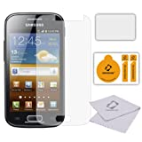 Membrane 6 x Pellicola Protettiva compatibile con Samsung i8160 Galaxy Ace 2 - Antiriflesso (Opaca), Antigraffio Protezione Schermo, Con la Confezione Originale