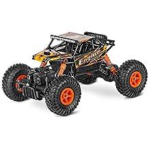 GBlife WLtoys 8428-B 2.4G 4WD RC Coche Eléctrico 1:18 Escala (Velocidad Alta de 9km/h, 100 metros de Radiocontrol, 18 mins de Duración), Color Naranja