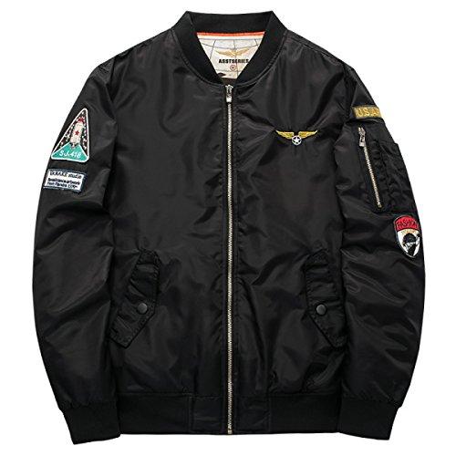 Herren Winter Baumwollbekleidung Flight Suits Plus Baumwoll Baseball Jacken (Flight Herren Suit)