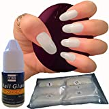 600pezzi ovale Nails 10misure–false nail tips Short Medium Full Cover naturale opaco acrilico unghie finte per saloni di manicure e nail art DIY–-senza colla