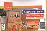 Geschenkband Bänder-Aufbewahrungsbox Braun