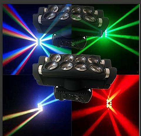 2 PC étape 8 * 10w spider faisceau mobile de la tête LED disco light