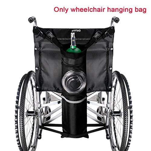Cicony Sauerstoffflaschenrad für Rollstuhlsauerstofftankhalter mit verstellbaren Trägern und Reflexstreifen