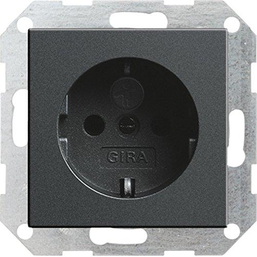 Preisvergleich Produktbild GIRA 045328 SCHUKO-Steckdose mit Kinderschutz System 55 anthrazit