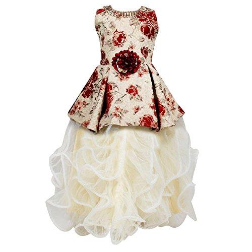 Arshia Fashions Girls Party Wear Frock Scuba Dress Ball Gown - GR249R