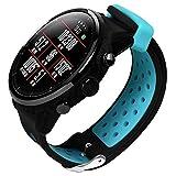 Hunpta@ Uhrenarmband für Xiaomi Huami AMAZFIT 2 2S, Sport Weiches Silikon Ersatzband Armband Uhrenarmband Armband (Blau)