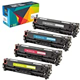 Do it Wiser 4 Toner Kompatibel HP 305A CE410X für HP Laserjet Pro 400 Color M451dn M451dw M451nw MFP M475dn MFP M475dw MFP M375nw M351a