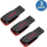 SanDisk Cruzer Blade - Lot de 3 clés USB 16Go