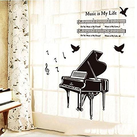 WEKA Moda símbolo de música de hoja del piano Música Tipo de Habitación Estudio DIY Decoración etiqueta de la
