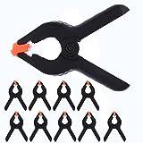 Primavera abrazaderas Set/nylon Grip Clips/nailon primavera abrazaderas 10piezas Heavy Duty, negro, 110 mm