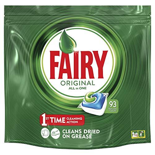 Fairy Original Todo en 1 Cápsulas De Lavavajillas Pack 93