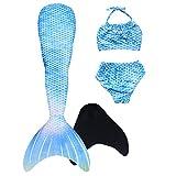 GNFUN Meerjungfrauenschwanz zum Schwimmen mit Meerjungfrau Flosse 110-170cm Höhe,Geeignet für Mädchen und Erwachsene