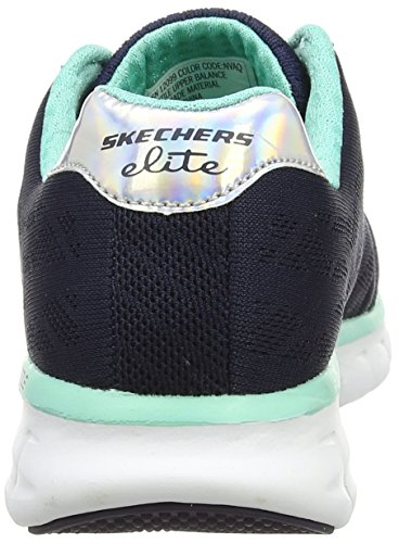 Skechers Synergy-Moonlight Madness, Sneakers Basses femme Bleu (nvaq)
