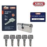 ABUS EC660 Doppelzylinder Türzylinder (40/50) inkl. 5 Schlüssel und Sicherungskarte