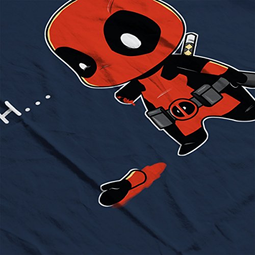 Chibi Deadpool Oh Men's Vest Navy Blue