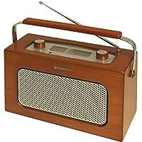 Roadstar TRA-1958N - Radio (FM/MW, AC/DC, 10 W PMPO, madera), color marrón