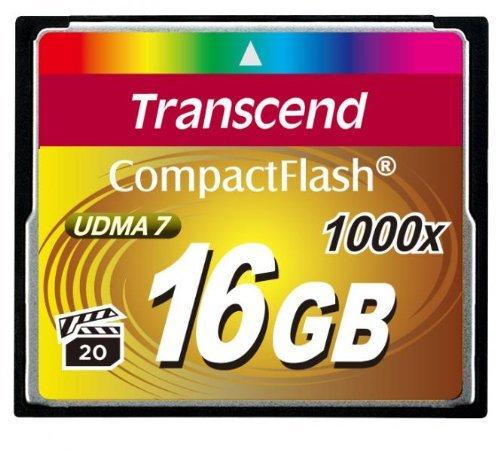 Transcend TS16GCF1000 Ultimate CompactFlash 16GB Speicherkarte (bis zu 160 MB/s lesen)