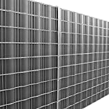 [neu.haus] Zaunfolie Sichtschutzfolie (dunkelgrau) (35m) für Zäune und alle Flächen zum einflechten