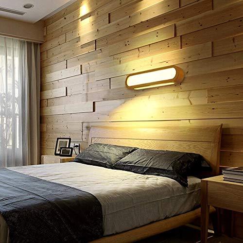 ZSAIMD Moderne LED 12 Watt Wandleuchte Massivholz Acryl Wandleuchte 1 Licht Dimmbare Spiegel Scheinwerfer Leuchten Beleuchtung für Esszimmer Schlafzimmer Badezimmer Dekoration Leuchte Room Art Decor - Badezimmer Für Lichtbalken
