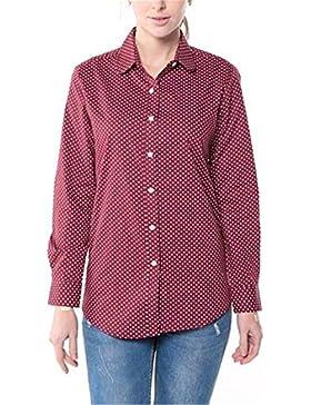 Dioufond® Camisas Mujer Slim Fit Manga Larga Estampada de Lunares