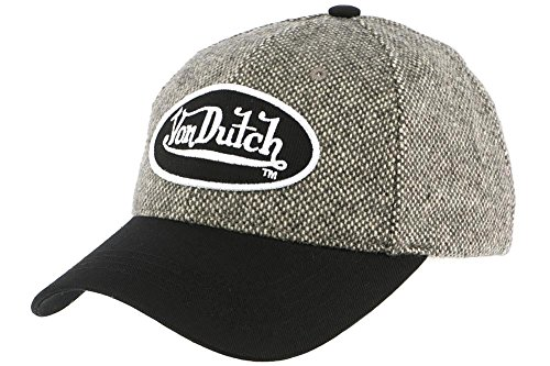 von-dutch-casquette-baseball-wilson-tweed-marron-von-dutch-marron-taille-unique-homme-femme