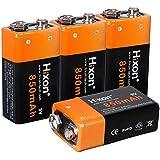 Batería Recargable Li-Ione Hixon 9V 850mAh para Sistema de Alarma de Multímetro con Detector