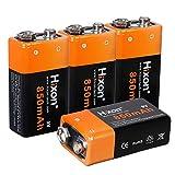 Best Las baterías de 9V - Batería Recargable Li-Ione Hixon 9V 850mAh para Sistema Review