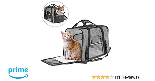 ac7a972e7541 CLEEBOURG Pet Carrier Bag Large Size Dog Cat Travel Carrier Bags  Lightweight Collapsible Animal Carrier Bag Mesh Soft Side Dog Kennel Crate  for Adult Baby ...