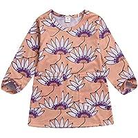 ASHOP Vestidos de Princesa 2019 Tutú Faldes de Fiesta Estampado Floral Vestido T-Shirt Manga Larga Algodón Casual Niñas 0-4 Años