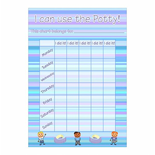 A4 Boy Potty / Toilet Training Chart & Stickers