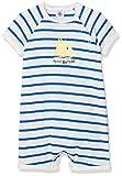 Petit Bateau Baby-Jungen Spieler COMBICOURT 28378, Mehrfarbig (Marshmallow/Perse 83), 62 (Herstellergröße: 3m/60cm)