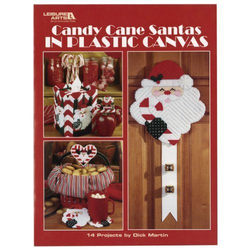 Leisure Arts Candy Cane Santas in Plastic Canvas by Leisure Arts -