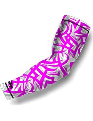 COOLOMG (1 Piece) Compression Arm Sleeve Jeunes Adultes Anti-dérapant Protection UV Baseball 4 Couleur 6 Taille