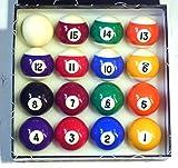 SPOTS & STRIPES 1 7/8 '(47,6mm) POOL BALLS ** ...