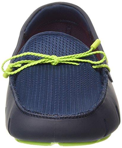Swims Lace, Mocassins Homme Bleu (navy/green)