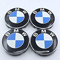 VIQILANY 4pcs Set 68mm Chrome Wheel Center Hub Caps Fit For BMW 1 3 4 5 6 7 Active Hybrid M X Z Series