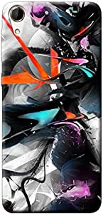Fashionury Printed Back Case Cover For HTC Desire 728 -Print37240