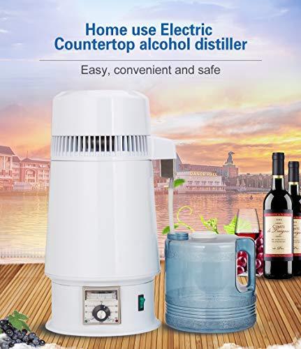 GTFHUH 750 watt 4 l Hause Alkohol Brenner reines Wasser Filter Maschine 220 v destillation luftreiniger zahnärztliche ausrüstung Kessel brauen Glas,UK - Wasser-filter-maschine