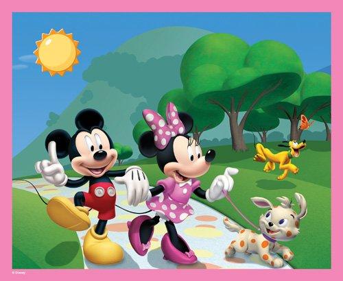 Imagen 1 de Hasbro MB 6863 - Puzzle de Mickey y Minnie de paseo (60 piezas)