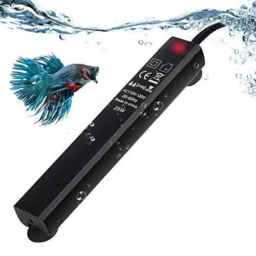 Homieco Mini Aquarium Heizungen, Betta Schildkröte Aquarium Heizer, Thermostat Wärmer Tauchfähig, Unterwasser Aquarium Heizung Explosionsgeschützter/Energieeffizienter -