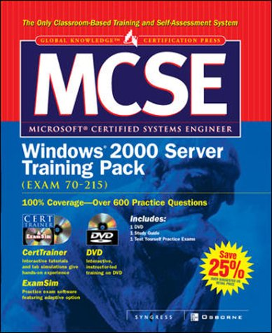 MCSE Windows 2000 Server Training Pack (Exam 70-215) (Certification Press S.) por Syngress Media  Inc.