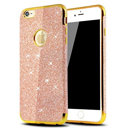iPhone 8Plus Handyhülle, Funkeln-Glänzend-Serie CLTPY iPhone 7Plus Taschen Gold Plating TPU Schale Case Dünne Crystal Silikon Schutzfall für Apple iPhone 7Plus/8Plus + 1 x Freier Stylus - Chinesisch R Rose Gold