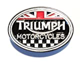 Triumph Motorcycles Classic 1960's Biker Metal Motorbike Enamel Badge
