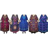 Ladies Bikini Kaftan Wholesale 5pcs Lot Kimono Multicolor Assorted Maxi Caftan Dress